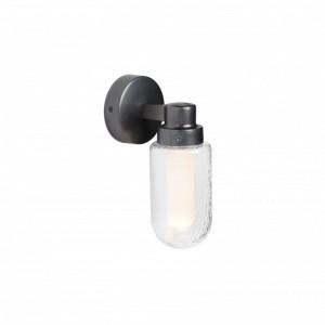 BRUME LED Lampe applique gris métallisé