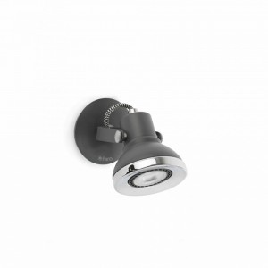 RING LED Lampe applique gris
