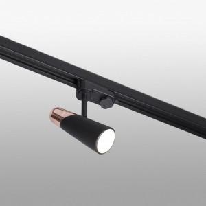LAO LED Projecteur sur carril noir et cuivre