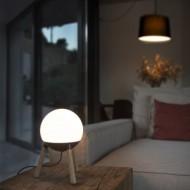 MINE Lampe de table grise