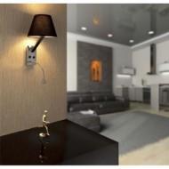 MOMA-2 LED Lampe aplique noir