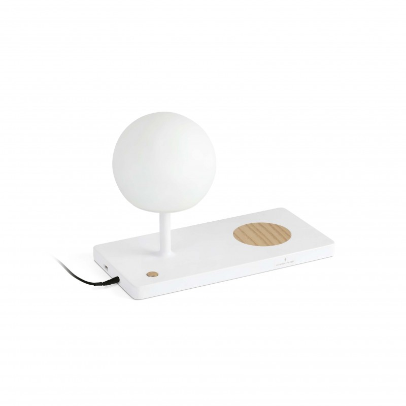 NIKO LED Lampe table blanche diffuseur PC