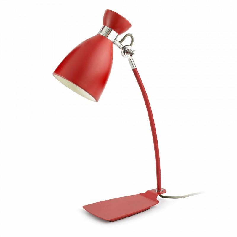 RETRO Lampe de bureau rouge