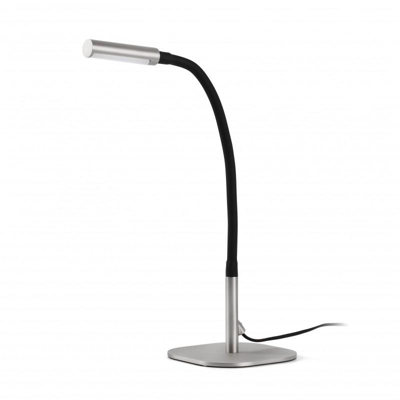 SERP LED Lampe de table nickel mat