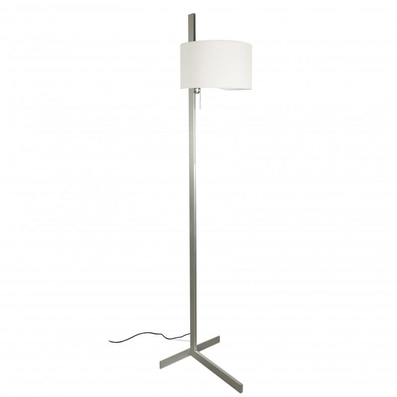 STAND UP Lampadaire aluminium et blanc
