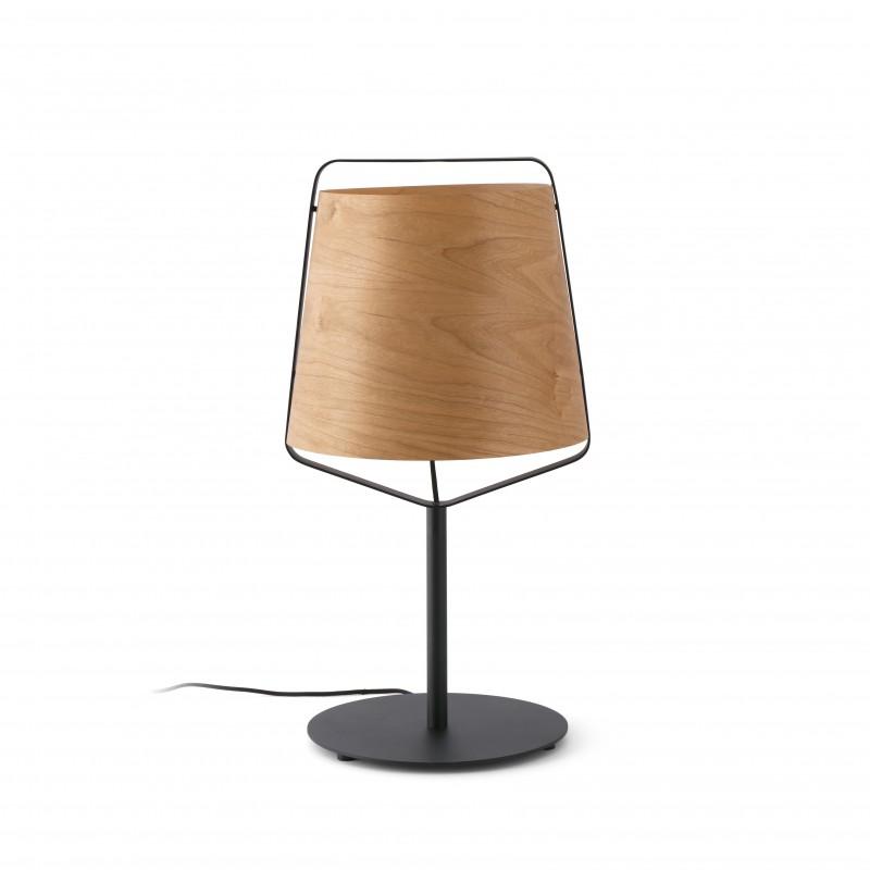 STOOD Lampe table moire et bois
