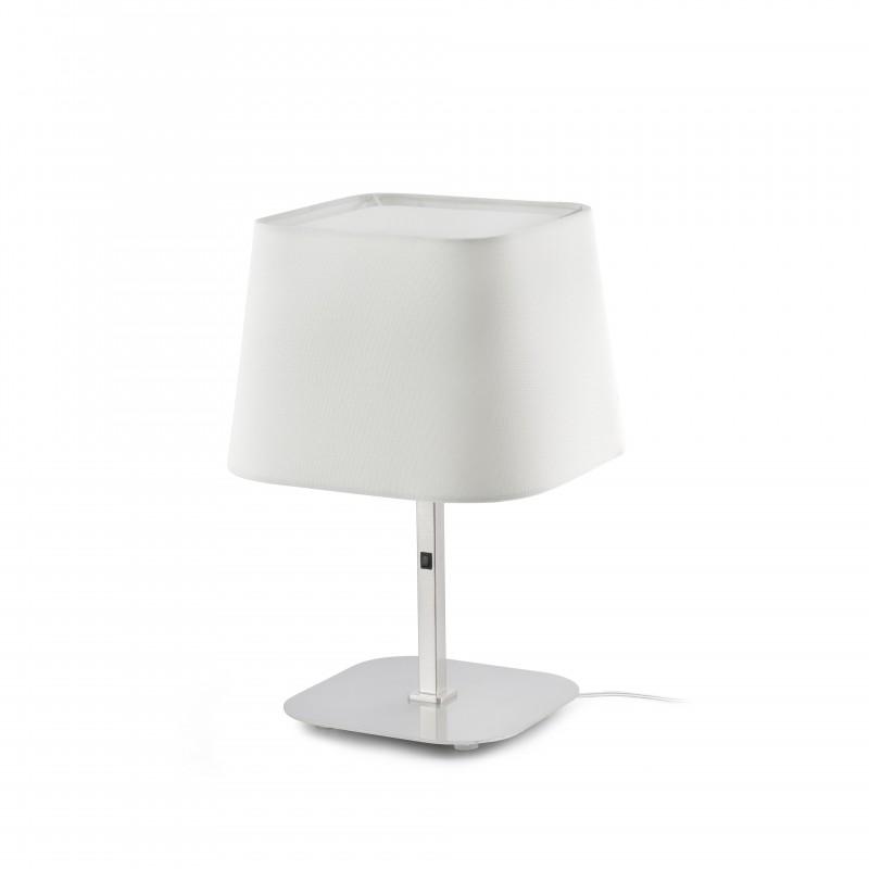 SWEET Lampe de table blanche et nickel