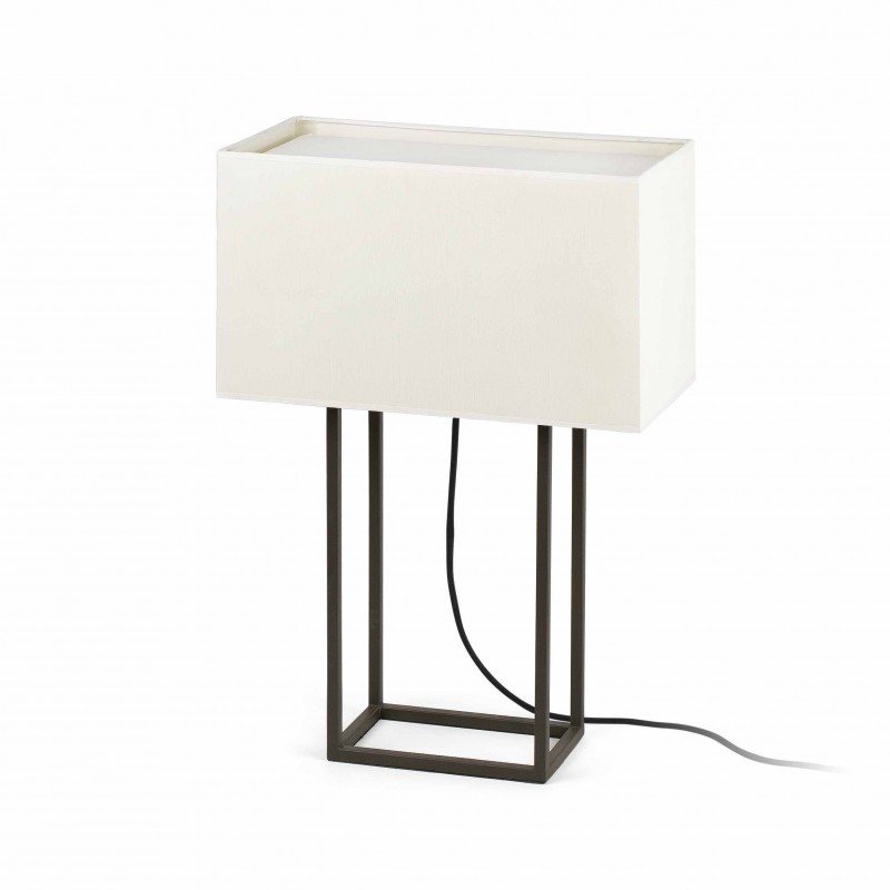 VESPER Lampe de bureau brun et beige