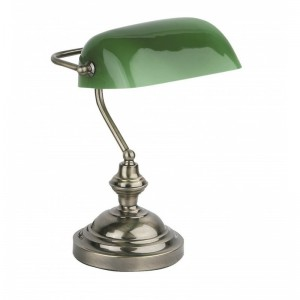 BANKER Lampe de table or vieilli