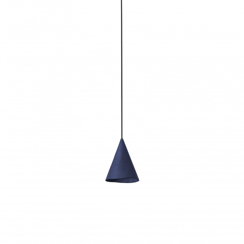 FADA LED Lampe suspension cuir bleu