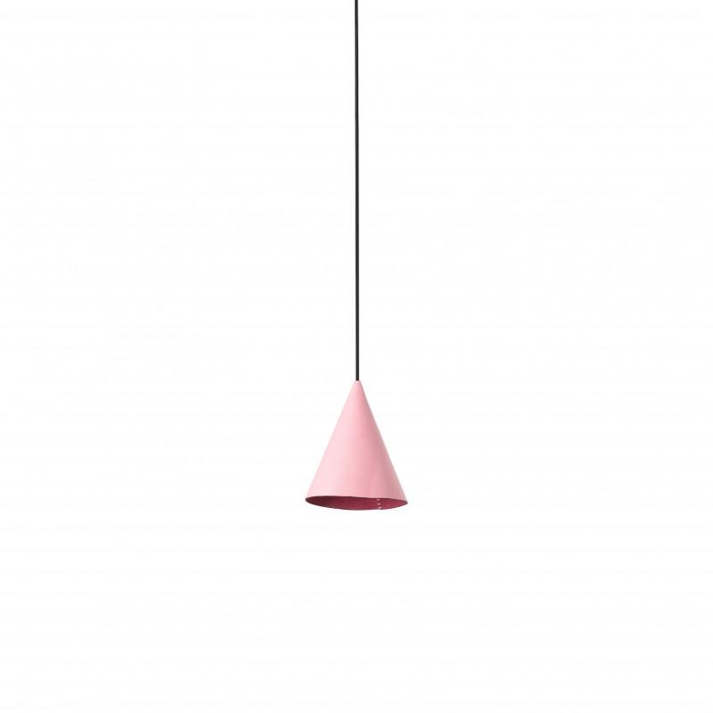 FADA LED Lampe suspension cuir rose