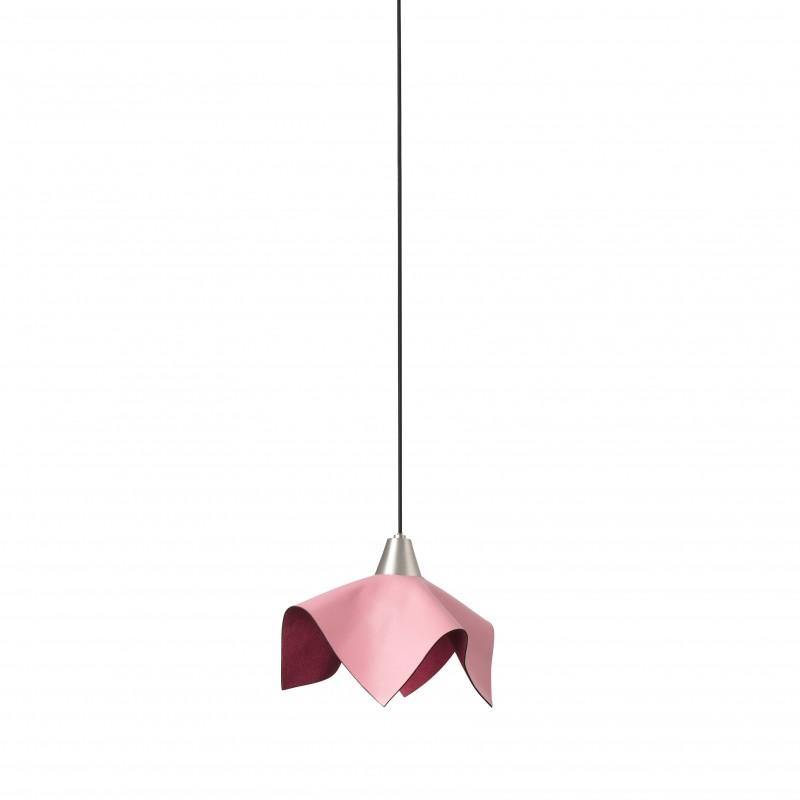 FAUNA LED Lampe suspension cuir rose