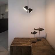 FLASH LED Lampe suspension noire 2L