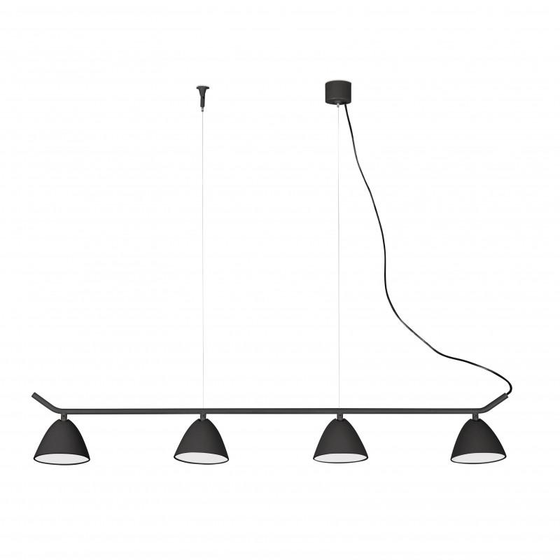 FLASH LED Lampe suspension noire 4L