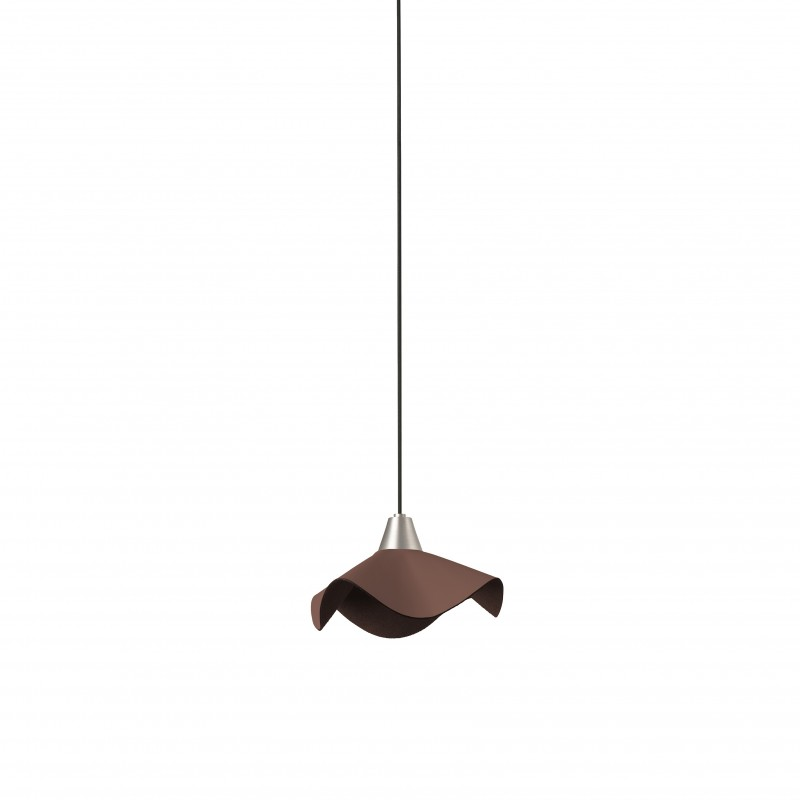 HELGA LED Lampe suspension cuir marron