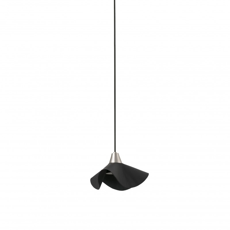 HELGA LED Lampe suspension cuir noir