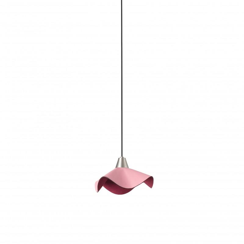HELGA LED Lampe suspension cuir rose