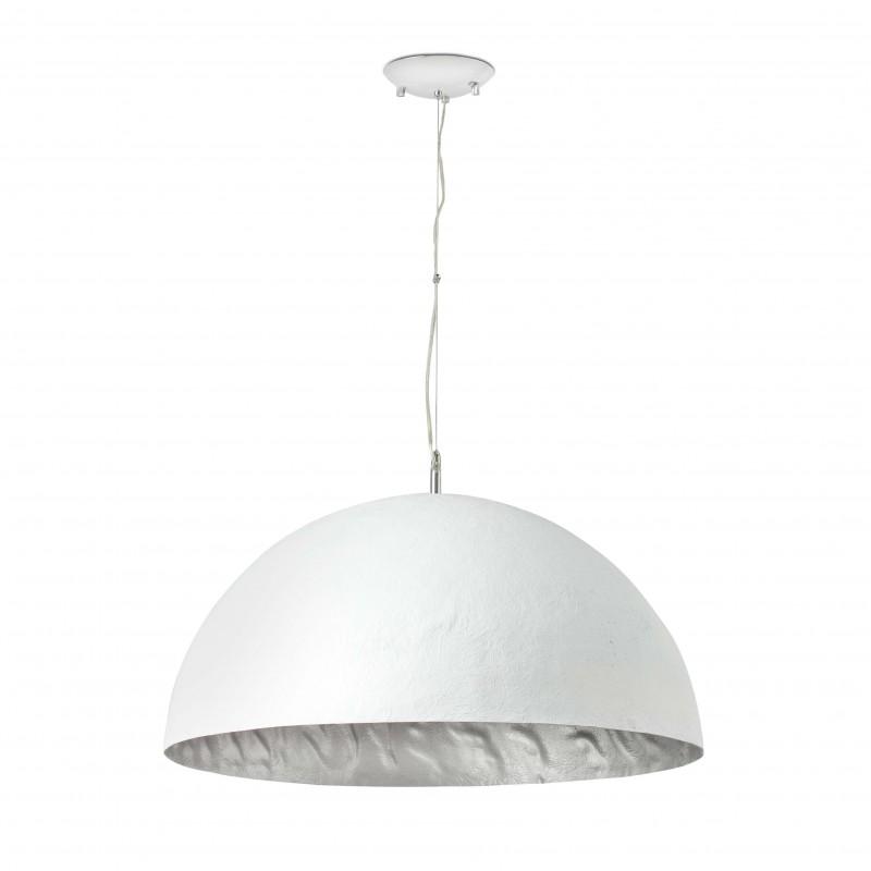 MAGMA-P Lampe suspension blanche et argent