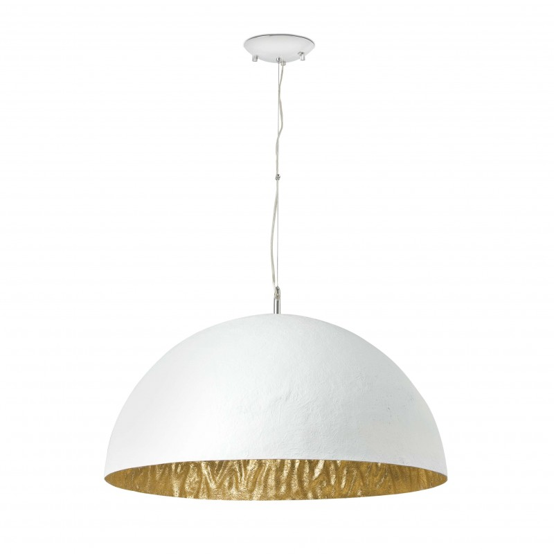 MAGMA-P Lampe suspension blanche et or 3L