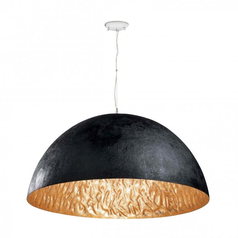MAGMA-P Lampe suspension noir et or