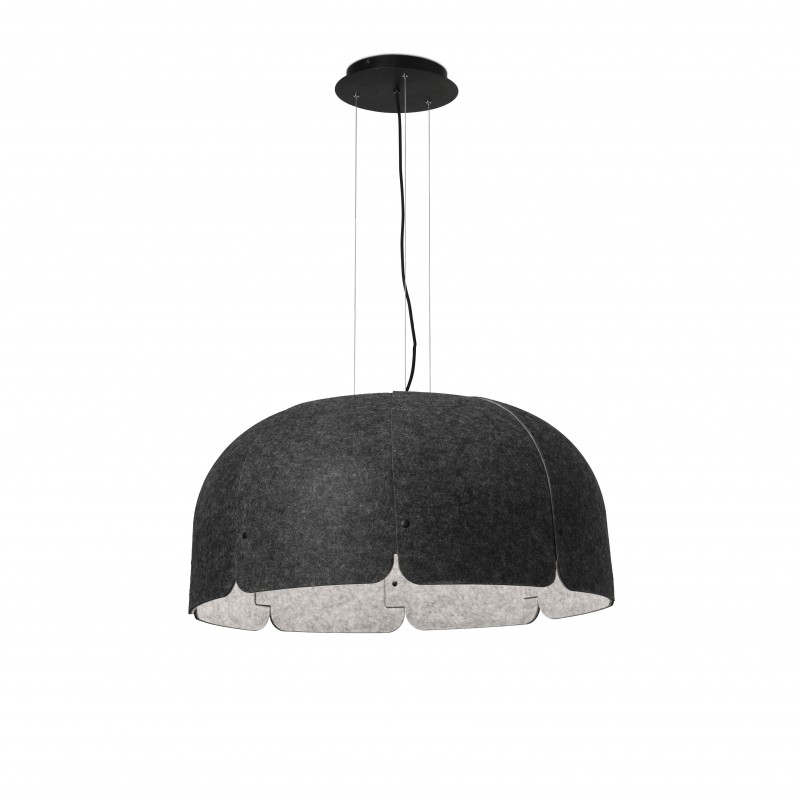 MUTE LED Lampe suspension gris foncé