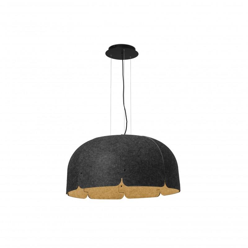 MUTE LED Lampe suspension marron et gris foncé