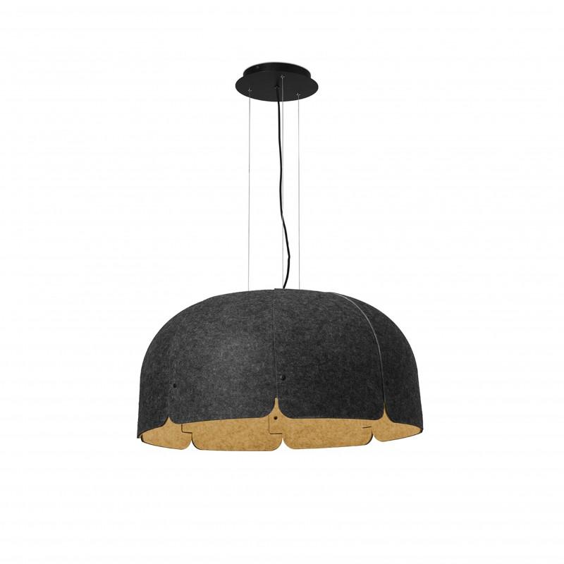 MUTE LED Lampe suspension marron et gris foncé dimmable 4000K