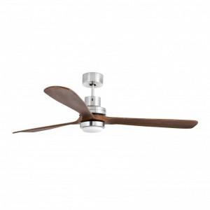 LANTAU-G LED Ventilateur de plafond nickel mat