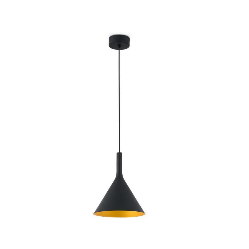 PAM-G LED Lampe suspension noir et or