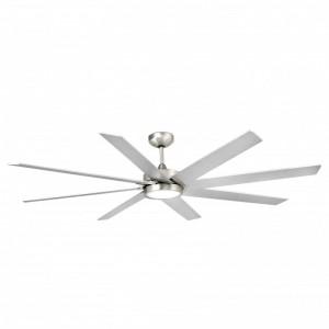 CENTURY LED Ventilateur de plafond nickel mat avec moteur DC