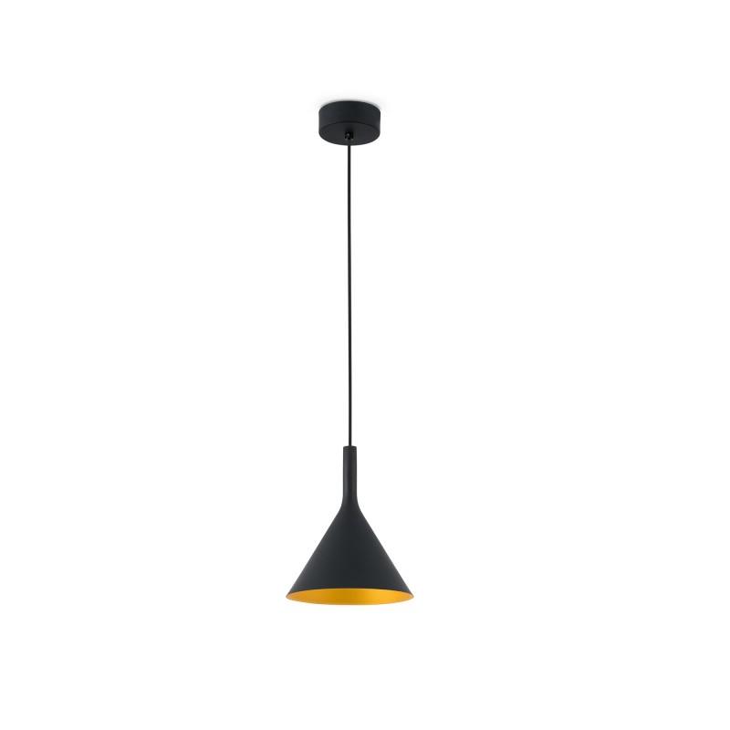 PAM-P LED Lampe suspension noir et or