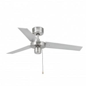 FACTORY Ventilateur de plafond aluminium brossé