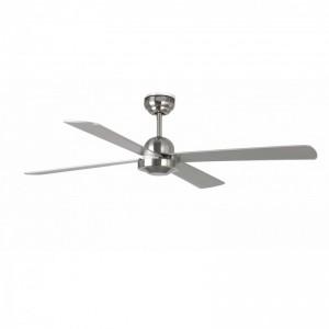 IBIZA Ventilateur de plafond nickel mat