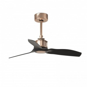 JUST FAN Ventilateur de plafond cuivre et pâles noir 81cm