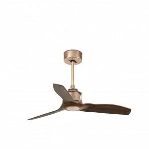 JUST FAN Ventilateur de plafond cuivre et pâles en bois 81cm
