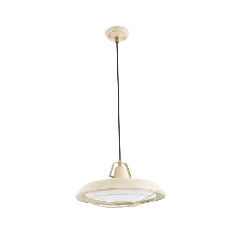 PLEC LED Lampe suspension blanc cassé