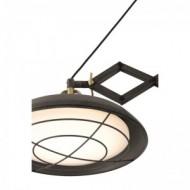 PLEC LED Lampe suspension extensible marron vieilli 2L