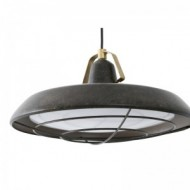 PLEC LED Lampe suspension marron vieilli