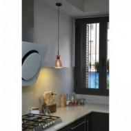 RETRO Lampe suspension cuivre