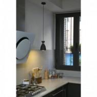 RETRO Lampe suspension noire et cuivre