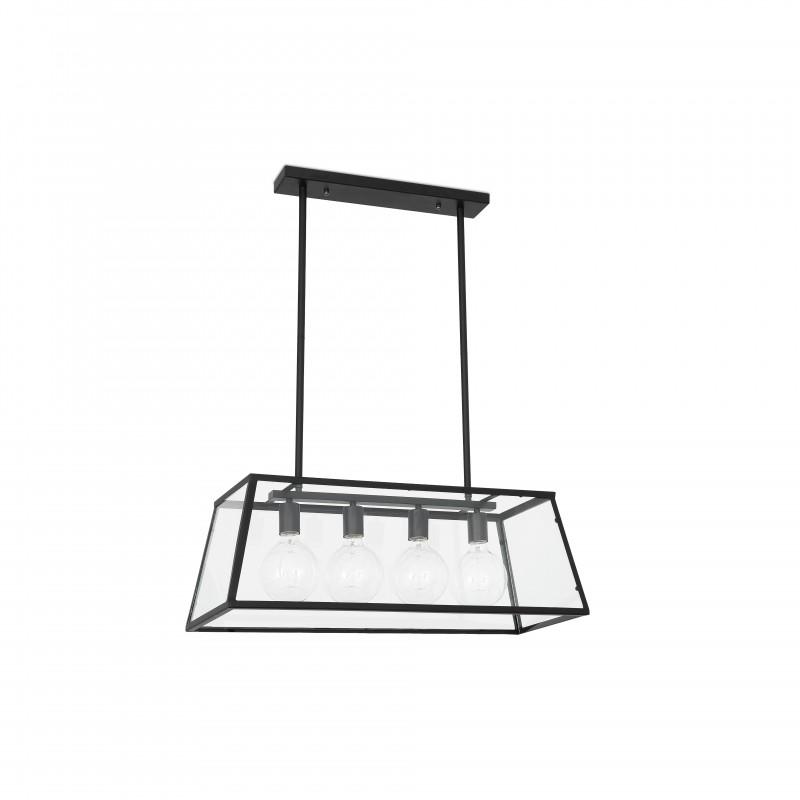 ROSE Lampe suspension télescopique noire