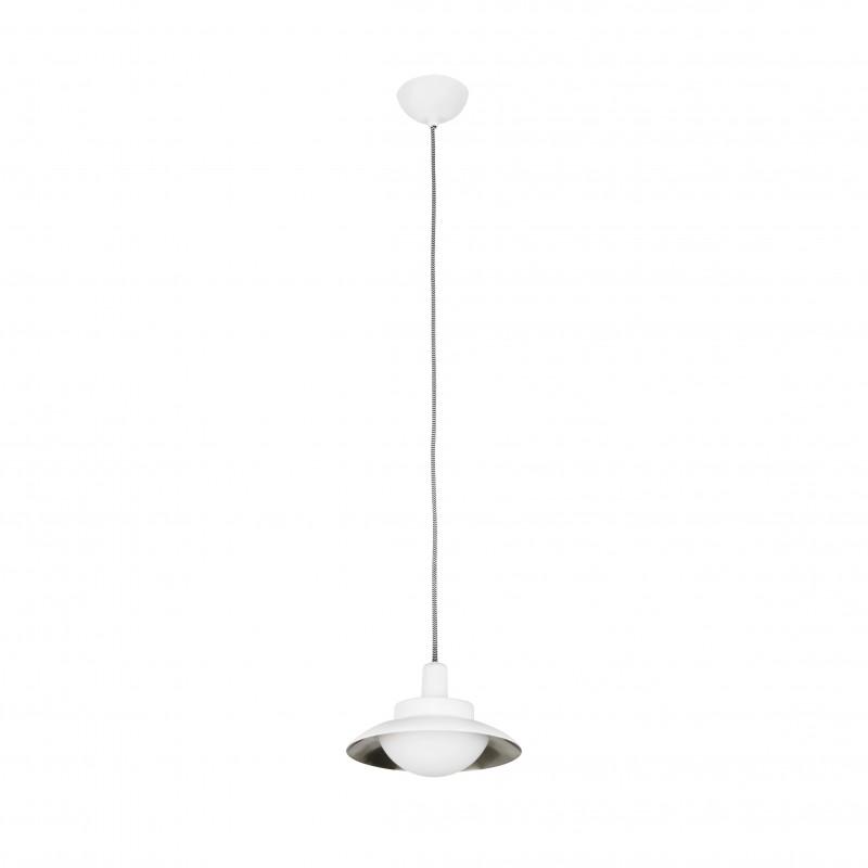 SIDE LED Suspension blanche et nickel G9
