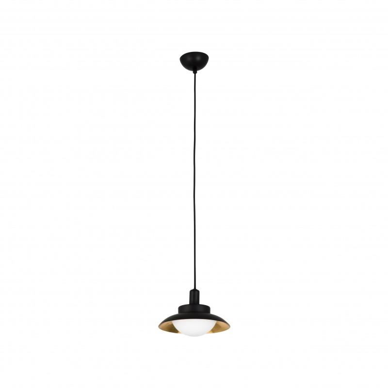 SIDE LED Suspension noir et cuivre G9