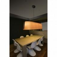 STOOD Lampe suspension noire et bois 5L